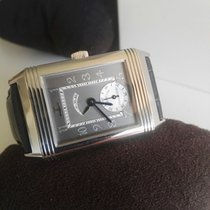 Jaeger-LeCoultre Platinum Manual winding Grey Arabic numerals 26mm pre-owned Reverso (submodel)