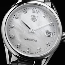TAG Heuer Carrera Lady WAR1314.BA0778 Tag Heuer Carrera Diamanti Cassa Acciaio Data new