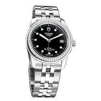 Tudor 55020-68050 Glamour Date in Steel with Diamond Bezel -...
