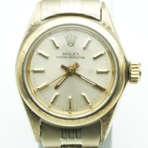 """Rolex Oyster Perpetual Lady """"Date"""" 14K Gold Champagne 1977..."""