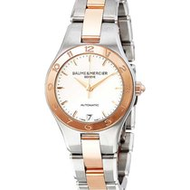 Baume & Mercier 10073 Linea Automatic in Steel with Rose...
