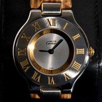 Cartier Must de 21 RARE CARTIER SHARK STRAP & Fold Clasp - Boxed