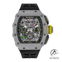 Richard Mille RM 011 Titanium 44mm Doorzichtig Geen cijfers