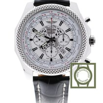 Breitling Bentley 05 Unitime 49mm White Dial Black Croco Strap...