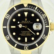 Rolex Submariner Date Matte Black Dial SS & 18k Yellow Gold 1985