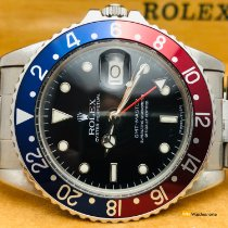 Rolex GMT-Master Staal 40mm Zwart Geen cijfers
