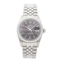 Rolex Datejust pre-owned 36mm Silver Date Fold clasp