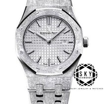 Audemars Piguet White gold Quartz Grey No numerals 33mm new Royal Oak Lady