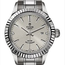 Tudor Style Steel 28mm Silver