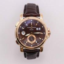 Ulysse Nardin Dual Time Rose gold 42mm Brown