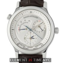 Jaeger-LeCoultre Master Geographic pre-owned 38mm Date GMT Crocodile skin