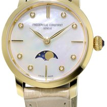 Frederique Constant Yellow gold Quartz Mother of pearl new Slimline Moonphase
