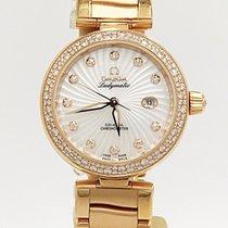 Omega 18k Rose Gold & Diamonds Deville Ladymatic O425653420550...