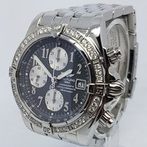 Breitling Factory Diamond Bezel Chronomat Evolution 44mm Mens...