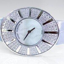 Harry Winston new Quartz 40mm White gold Sapphire Glass
