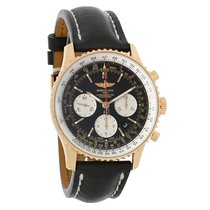 Breitling Navitimer 18K Rose Gold Mens Auto Watch RB012012/BA4...