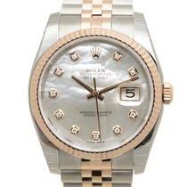 勞力士 (Rolex) Datejust 18k Rose Gold And Steel White Automatic...