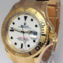 Rolex Yacht-Master 16628 18k Yellow Gold White Dial Mens Watch...