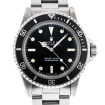 Rolex Submariner 5513 Watch with Stainless Steel Bracelet and...