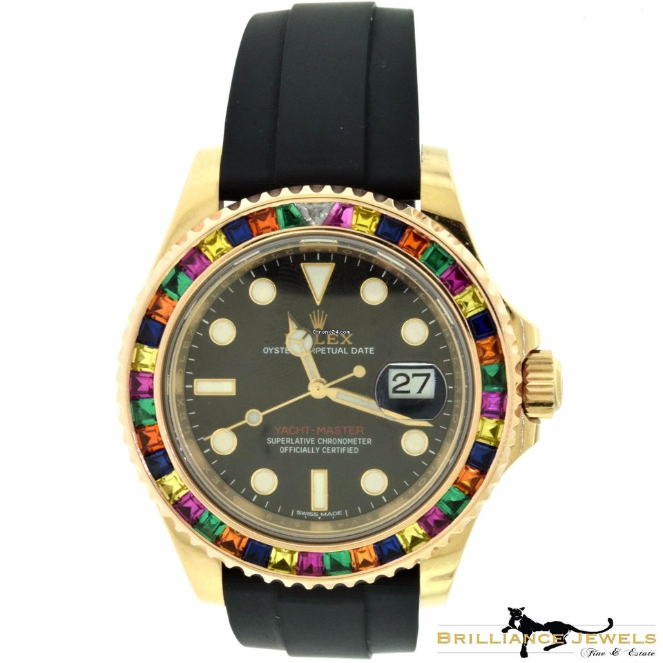 44b782b5cdb Rolex Yacht-Master40 Multi-Color Gem-Set Bezel Baselworld Edition for  $26,500 for sale from a Trusted Seller on Chrono24