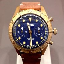 Oris Chronograph 43mm Automatic new Carl Brashear Blue