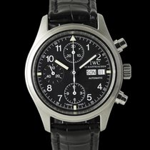 IWC Pilot Chronograph Steel 39mm Black