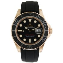 Rolex Yacht-Master 40 Açık kırmızı altın 40mm Siyah Sayılar yok
