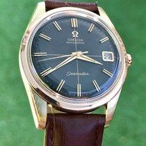Omega Seamaster black dial rose pink gold bezel & steel mens...