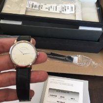 A. Lange & Söhne Saxonia White gold 37mm Silver No numerals United States of America, Pennsylvania, Philadelphia