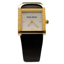 Nina Ricci Gold/Steel Quartz Nina Ricci White Gold-Plated Stainless Steel Classic new