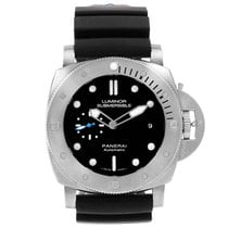 Panerai Luminor Submersible 1950 3 Days Automatic pre-owned 47mm Black Date Rubber