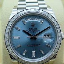 Rolex Day-Date 40 Platina 40mm Geen cijfers