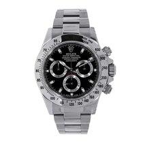 ロレックス Daytona Stainless Steel Watch Black Dial Watch 116520