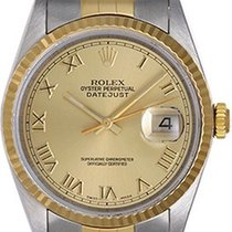 Rolex Men's 2-Tone Steel & Gold Rolex Datejust Watch 16233...