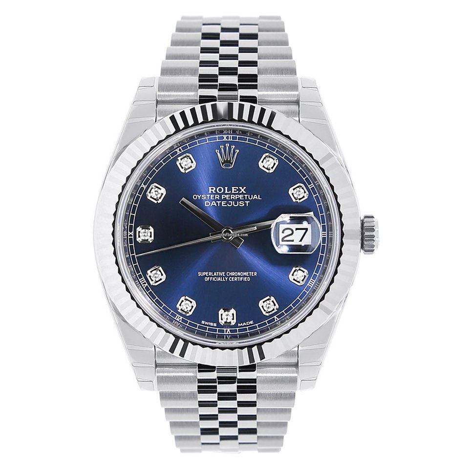 b6d0c3dbb87 Rolex Datejust 41 Steel   White Gold Blue Diamond Jubilee ... for ...