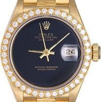 Rolex Ladies Barked President Gold & Diamond Watch 69278...