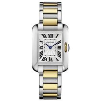 Cartier W5310046 Tank Anglaise Two-Tone Small - Steel and...