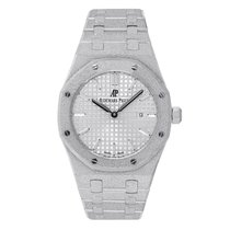 Audemars Piguet Ladies Royal Oak 33mm Frosted White Gold Watch