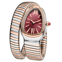 Bulgari Serpenti Tubogas Stainless Steel And Rose Gold 35mm...