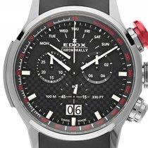 Edox Chronorally Titan Quarz Chronograph Armband Kautschuk...