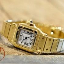 Cartier Santos (submodel) tweedehands 24mm Geelgoud
