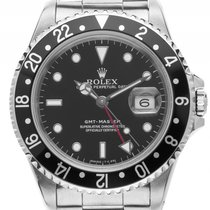 Rolex GMT Master schwarz Stahl Automatik Armband Oyster 40mm...
