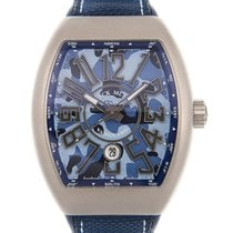 Franck Muller Steel 44mm Automatic V 45 SC DT CAMOU (TT.MC.BL) new