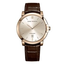 Harry Winston Midnight pre-owned 42mm Champagne Date Crocodile skin