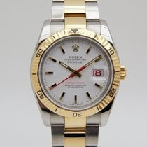 Rolex Datejust Turn-O-Graph Goud/Staal 36mm Wit Geen cijfers