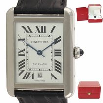 Cartier Tank Solo pre-owned 40mm Silver Leather