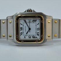 Cartier Santos (submodel) Gold/Stahl 29mm Weiß Römisch