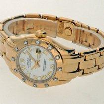 Rolex Lady-Datejust Pearlmaster Ouro amarelo 29mm Madrepérola Romanos