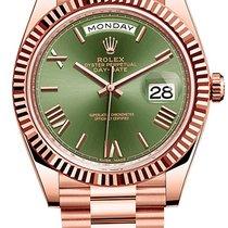 Rolex Day-Date 40 Růžové zlato 40mm Hnědá