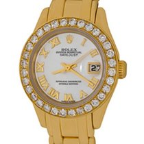 Rolex Lady-Datejust Pearlmaster Yellow gold 28mm Mother of pearl Roman numerals United States of America, Texas, Dallas